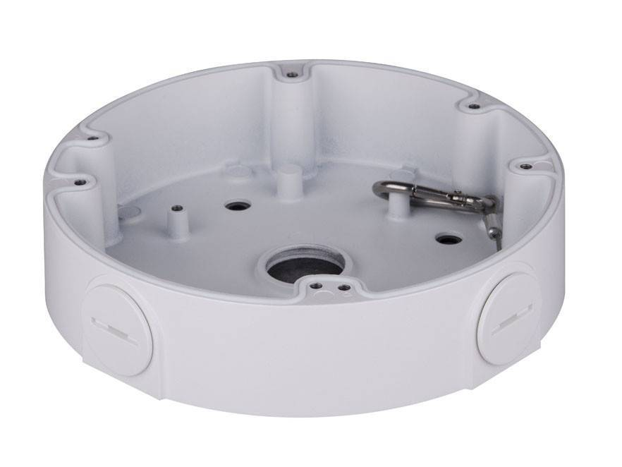 scatola di montaggio Dahua PFA138 per uso esterno con telecamere IP HDBW5421EP-Z e Z-HDBW8331E. E fotocamera HDVCI HDBW3231E-Z.