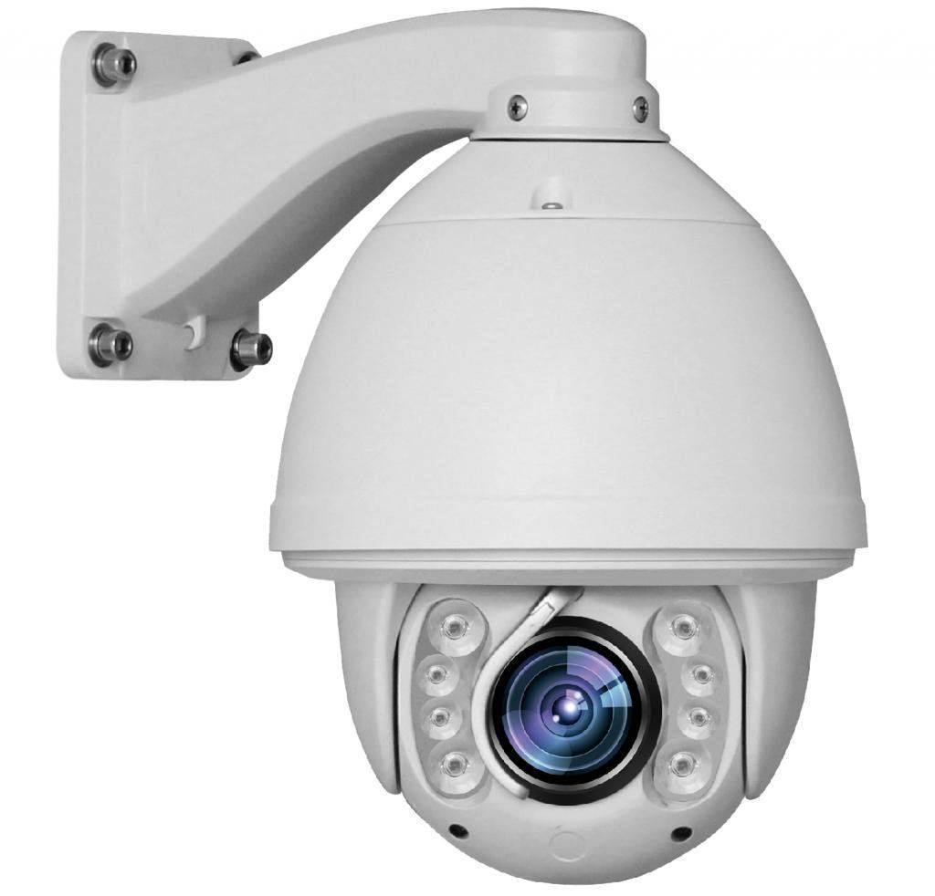 The DM-RDC305 Speeddome PTZ camera, 2 megapixel PTZ camera is a controllable dome camera, with a 2 Megapixel Full HD resolution, and IR power LEDs up to 100 meters. With the 20x optical zoom lens and the controllable camera you can get a clear picture of
