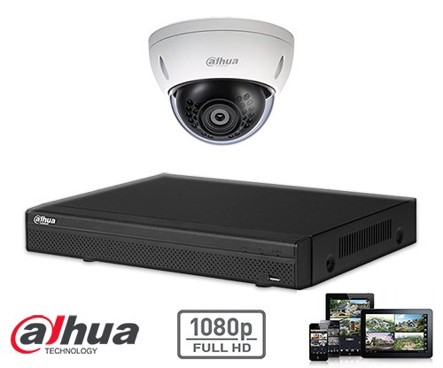 The Dahua HD-CVI kit 1x dome 2mp Full HD camera security set contains 1 HD-CVI dome camera, which are suitable for indoors or outdoors. The camera has a Full HD image quality with IR LEDs for a perfect view in darkness.