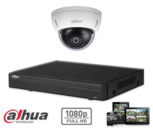 El kit kit de la cámara de seguridad domo HD 2MP HD 1x Dahua CVI incluye cámara domo CVI 1 HD, que son adecuados para interiores o exteriores. La cámara tiene una calidad de imagen Full HD con LEDs IR para una perfecta visibilidad en la oscuridad. Este ki