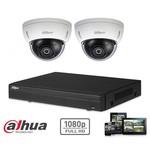 Dahua HD-CVI-Kit 2x Dome 2MP Full HD-Kamerasicherheitsset