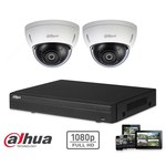 Dahua set kit HD CVI de cámaras de seguridad 2x cúpula 2MP HD