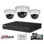 Dahua Full HD-CVI kit 3x dome 2 Megapixel camera security set