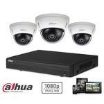 Dahua HD-CVI-Kit 3x Dome 2MP Full HD-Kamerasicherheitsset