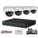 Dahua Full HD CVI-Kit 4x Dome 2-Megapixel-Kamerasicherheitsset