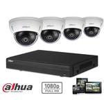 Dahua HD-CVI-Kit 4x Dome 2 MP Full-HD-Kamerasicherheitsset
