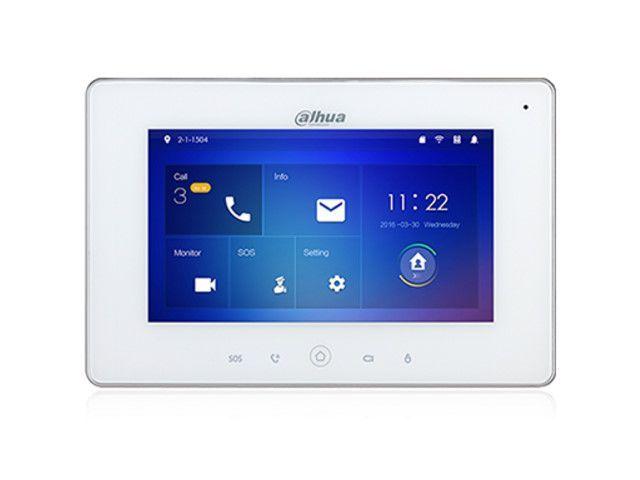 Il monitor per interno citofono WiFi Dahua 7 '' è dotato della tecnologia più recente ed è destinato al sistema interfonico IP Dahua. Ideale da utilizzare come secondo monitor da interno.