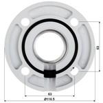 Hikvision DS 1663ZJ SUPPORTO dome PTZ a soffitto montaggio a 57 millimetri
