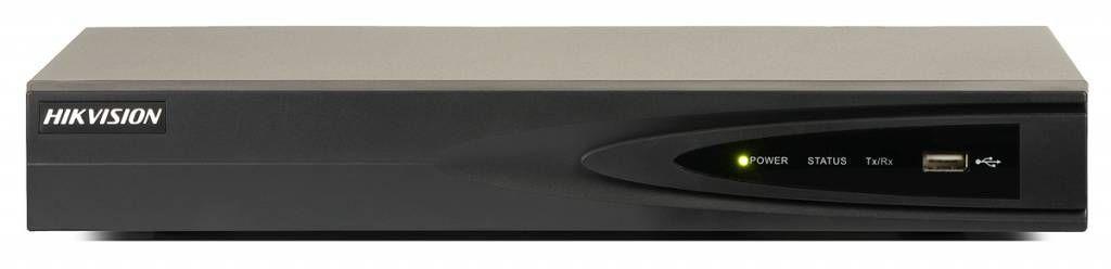 El Hikvision DS-K1 7604NI de vídeo en red (NVR) es el nivel de entrada 4K video de la red, que cuatro cámaras IP se pueden conectar máx. Resolución de 8 megapíxeles. Las cámaras sirven a través de un interruptor o conmutador de red PoE a WOR en este NVR .