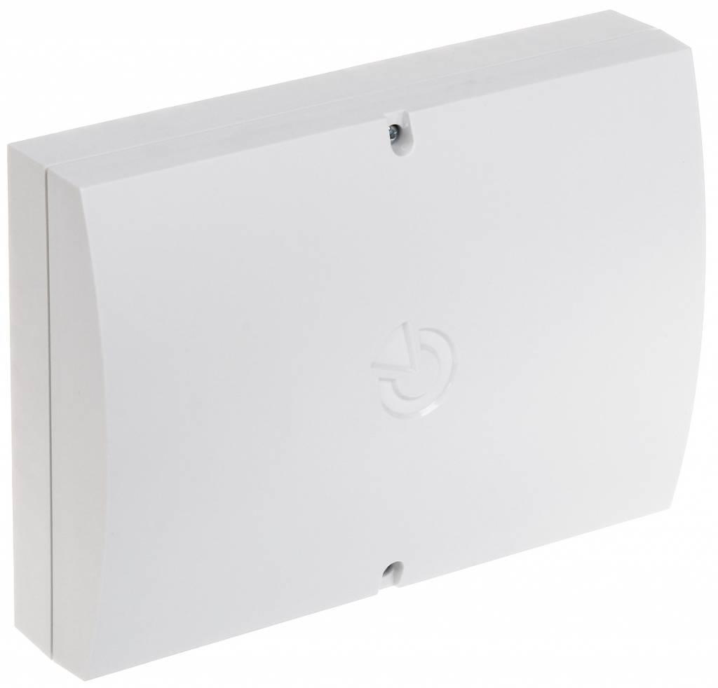 Una versión de gran tamaño de la caja de instalación para los módulos Jablotron equipado con un frente y un interruptor antisabotaje trasera. Adecuado para módulos de entrada y de salida, nodos, etc.