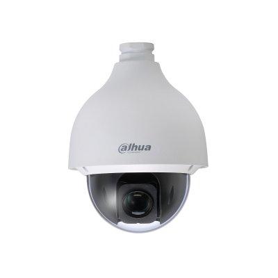 Die Dahua SD50230I-HC-S2 Innen- / Außen-, Ultrahochgeschwindigkeits-HDCVI-PTZ-Starlight-Kamera, 2 MP, 30-facher optischer Zoom, IP67. Bei dieser Kamera sind Farbbilder bei schlechten Lichtverhältnissen möglich. 30-facher optischer Zoom.