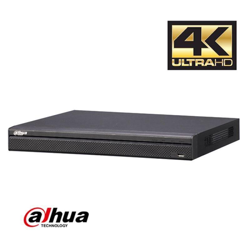 Il Dahua NVR4108HS-4KS2 NVR (senza PoE) è un registratore video 4K rete senza built-in switch PoE se li avete già. Fino a 8 telecamere IP possono essere collegati.