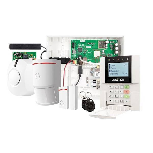 The Jablotron Enterprise system can be ordered separately or through this starter kit. In the starter kit you will find all the components that serve as the basis for an installation. All Jablotron 100 series detectors can be connected, with the exception