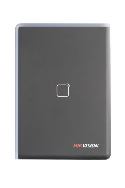 The DS-K1108E is a card reader from the access control line of Hikvision. The card reader can be connected via RS-485 or Wiegand. The beautifully designed card reader can be used both indoors and outdoors. The card reader can read EM cards and be connecte