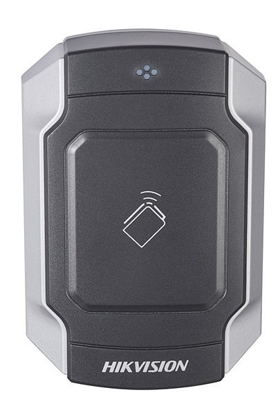 The DS-K1104M is a vandal-proof card reader from Hikvision's access control line. The card reader can be connected via RS-485 or Wiegand. The beautifully designed card reader can be used both indoors and outdoors. The card reader can read MiFare cards and