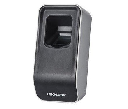 The DS-K1F820-F is a USB reader module for reading fingerprints in a Hikvision access control system. The optical module used is developed by Hikvision itself. This unit is not tied to a single system and can therefore be used to read fingerprints in mult