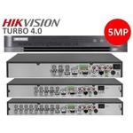 Hikvision DVR 8 canais, PoC, até 5MP, máximo 2HDD, DS-7208HUHI-K2 / P