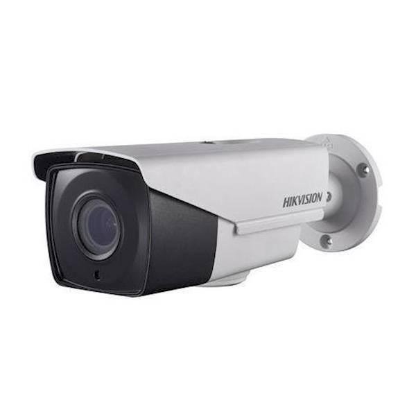 ¡Esta cámara bulbo varifocal HD TVI está equipada con zoom motor y Power over Coax! PoC significa que la cámara puede alimentarse desde la grabadora y que la fuente de alimentación y la imagen pasan por encima de un cable coaxial.