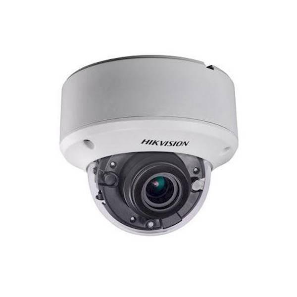 Importante! Observe se o seu gravador atual pode lidar com a resolução HD desta câmera. Esta não é uma câmera IP. Esta câmera dome varifocal HD-TVI está equipada com um zoom motorizado. A lente de 2,8 mm a 12 mm fornece um ângulo de visão de 32,1 ° -103 °