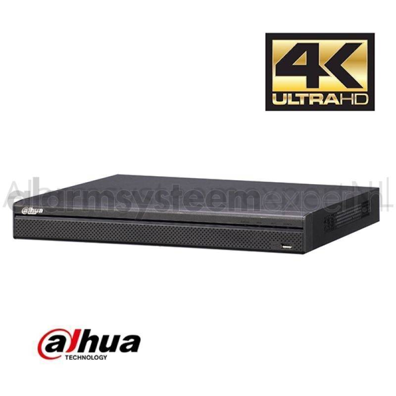 The Dahua NVR4416-4KS2 NVR is a 4K Network Video Recorder. A maximum of 16 IP cameras can be connected via your network or optional PoE switch.