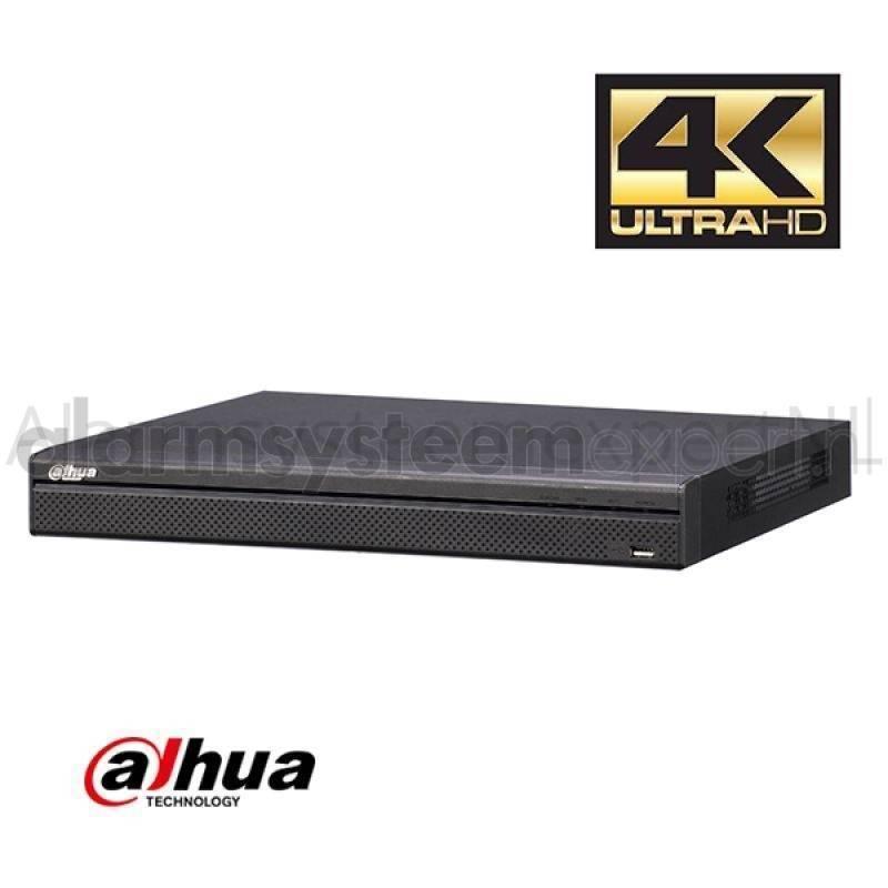 El NVR4416-4KS2 NVR de Dahua es un grabador de video de red 4K. Se puede conectar un máximo de 16 cámaras IP a través de su red o conmutador PoE opcional.