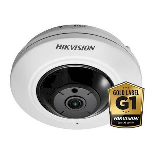 New in the Hikvision Gold-Line cameras this compact and powerful fisheye camera. The camera has 9 independent images, all of which can be obtained from one camera in the web browser. It is also possible with IVMS-4200 to split the recorded images. Due to
