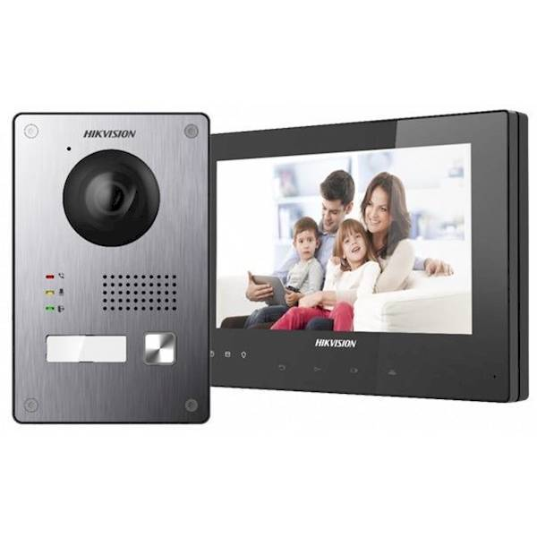 The 2-wire video intercom kit from Hikvision is suitable for both homes and businesses. Hikvision's intercom can be easily installed and configured.