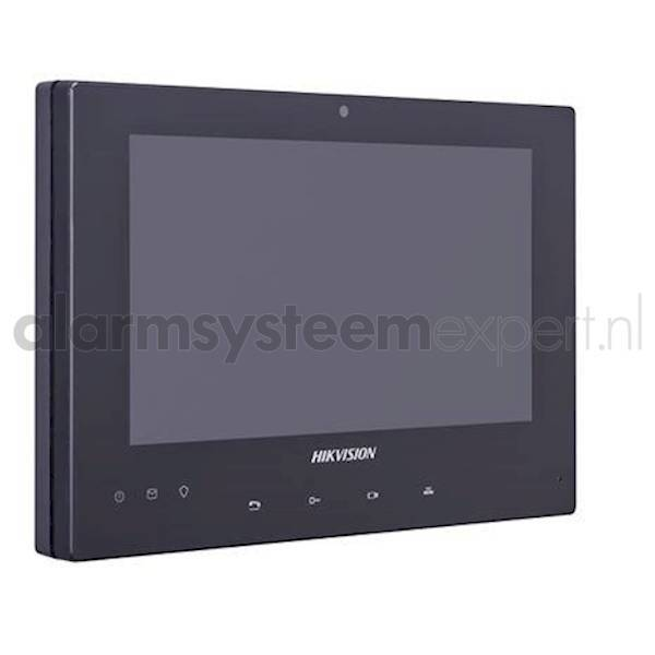 """O intercomunicador de vídeo de 2 fios no monitor Hikvision é adequado para residências e empresas. A estação interna de LCD possui uma tela sensível ao toque de 7 """", que permite que o sistema de intercomunicação seja totalmente operado. O painel interno p"""