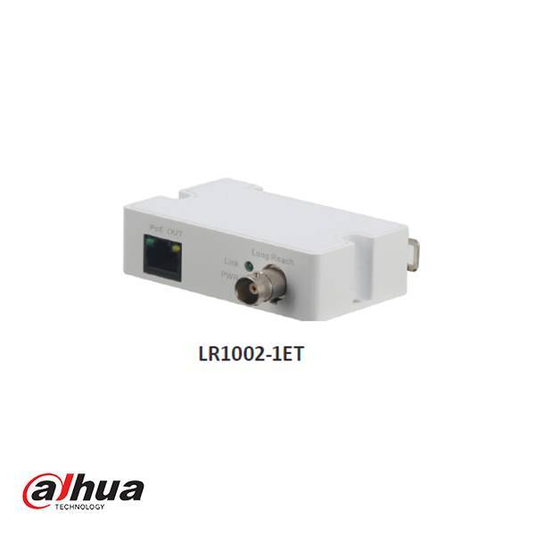 De Dahua LR1002-1ET is een Single-Port Long Reach Ethernet over Coax EoC Extender zender voor gebruik van IP camera's over analoge coax kabel. Deze transmitter ondersteunt POE en ePOE.