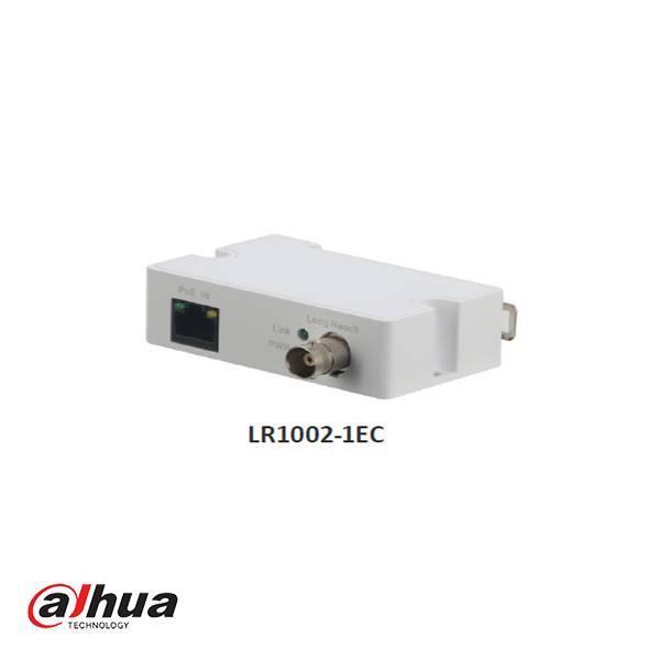 El Dahua LR1002-1EC es un transmisor Receptor EoC Extender Coaxial Ethernet de largo alcance de un puerto para uso de cámaras IP sobre cable coaxial analógico. Este receptor admite POE y ePOE.