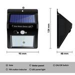 AlarmsysteemExpert.nl Lâmpada de choque pequena do diodo emissor de luz do modelo para exterior com sensor (sem fio)