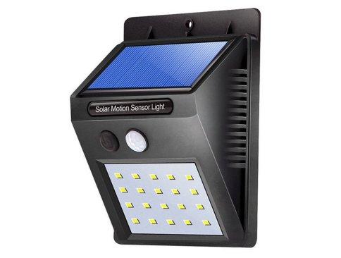 Deze kleine Solar LED schriklamp met 20 leds is absoluut een must als u uw woning of bedrijf beter wilt beveiligen. Geeft zeer veel licht en werkt op een Lithium batterij die automatisch wordt opgeladen door zonne-energie!  De Solar lamp werkt op basis va