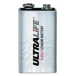 Visonic Bateria Ultralife de lítio de 9 volts