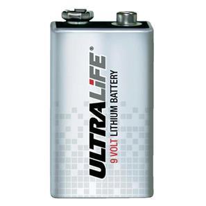 Visonic Ultralife Lithium 9 volt battery