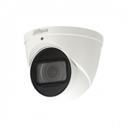 Die Dahua HAC-HDW2241TP-A Mini-IR-Augapfelkamera für Innen- und Außenbereiche mit 2 MP und festem Objektiv von 2,8 mm liefert dank der Starlight-Technologie ein sehr klares Nachtbild. IP67, IK10. Diese kompakte Kuppelkamera Full Hd von Dahua ist sowohl fü