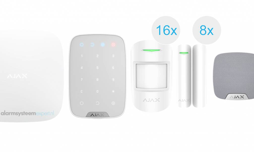 Ajax alarm system kit can be used as a basis for the wireless Ajax security system.