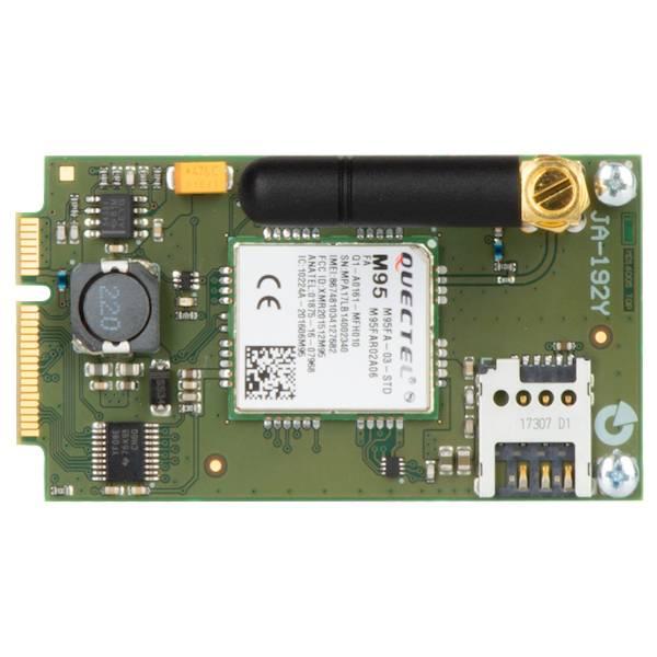 De Pro Centrale uitgerust met een JA-192Y GSM kiezer communiceert via een mobiel netwerk met een centraal bewakingsstation, maakt bediening mogelijk en mobiele toepassingen via het web en stuurt alarm-SMS-berichten en spraakberichten.