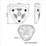 Hikvision DS-2CD6362F IVS-6 mp 6-line Fischaugenkamera 360 Grad OUTER Version