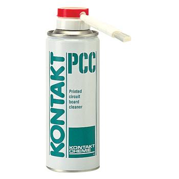 Verwijdert soldeerflux residus van elektronische apparaten.KONTAKT PCC reinigt PCB`s en zorgt voor een hoge oppervlakte weerstand, beschermd, tegen kruipstromen en bevordert een goede hechting van beschermlakken.