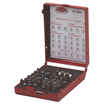 Professionele bit set met 30 bits en 1 Athlet 1/4&quot; bit houder in een metalen opbergdoos.<br /> <br /> Bestaat uit:<br /> • 1x 4.0mm slotted<br /> • 1x 5.5mm slotted<br /> • 1x 6.5mm slotted<br /> • 3x PH1<br /> • 3x PH2<br /> • 3x PH3<br /> • 3x PZ1<br /> • 2x PZ2<br /> • 3x PZ3<br /> • 1x Hexagon 4mm<br /> • 1x Hexagon 5mm<br /> • 1x He