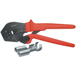 Knipex Crimping pliers Uninsulated, open plug connectors, 4.8 + 6.3 mm 0.5...6 mm²