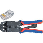 Knipex Crimp lever pliers for Western plugs Western connector RJ10 (4-pin) 7.65 mm, RJ11/12 (6-pin) 9.65 mm, RJ45 (8-pin) 11.68 mm