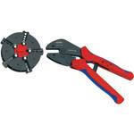 Knipex Crimping pliers with magazine changer Plug connectors, cable lugs, wire end ferrules and butt connectors 0.5...6 mm²