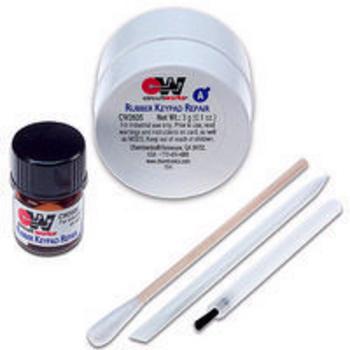 Set voor het repareren van rubberen matjes van bijv (GSM) telefoons, AB`s, enz.