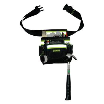Deze ToolPack 1 holster gereedschapsriem heeft gele, reflecterende strepen voor een veilig gebruik buitenshuis en in een donkere omgeving. De 8 opbergvakken bieden alle ruimte om uw gereedschap efficiënt op te bergen. De riem kan versteld worden voor een