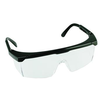 Beschermbril met ergonomisch design. Met zwart nylon frame, kunststof lens en verstelbare neusbrug. Ontwikkeld volgens de CE en EN166 normen.