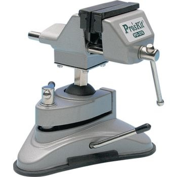 Precision vice with suction feet 68 mm