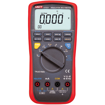 Insulation resistance digital multimeter with backlight 6000 Count Full icon display (81x46mm) with low-battery indicator<br /> Moulded plastic case offers excellent protection when used in harsh environments