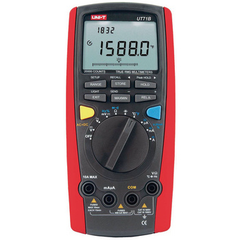 UT71B/E: With USB connection, bandwidth 100 kHz, temperature measurement, data logger (100 measurements), robust, multiple display