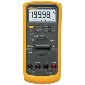 Fluke 87-V Digital Multimeter performance and accuracy for<br /> maximum industrial productivity<br /> The Fluke 87V has a unique function<br /> for accurate voltage and frequency<br /> measurements on adjustable speed<br /> motor drives and other electrically noisy<br /> equipment. A built